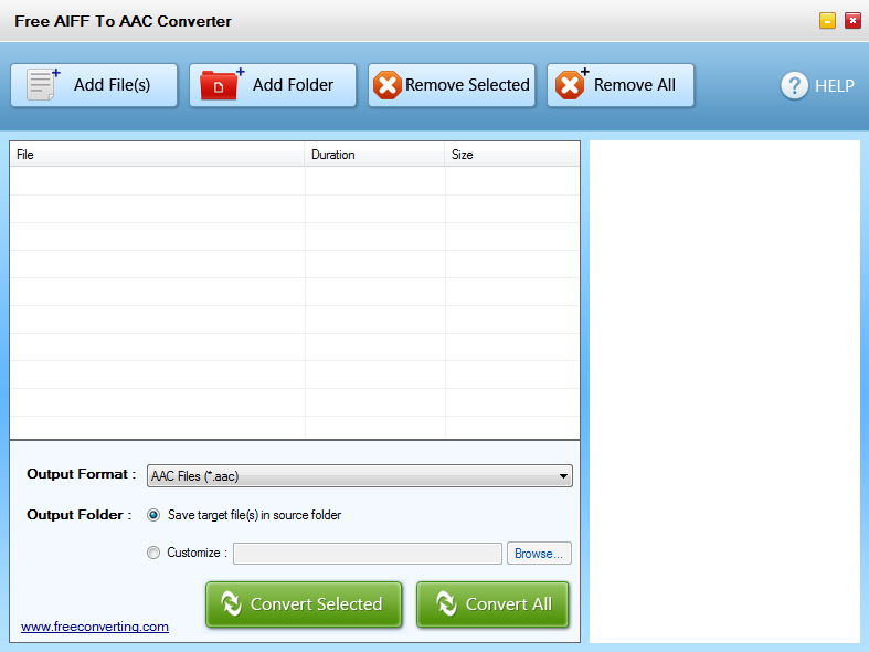 Click to view Free AIFF to AAC Converter screenshots