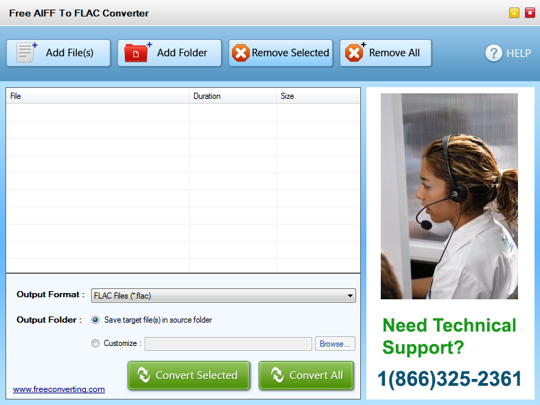 Click to view Free AIFF to FLAC Converter screenshots