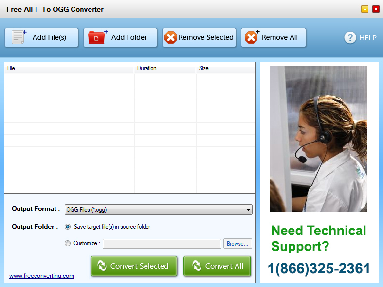 Click to view Free AIFF to OGG Converter screenshots