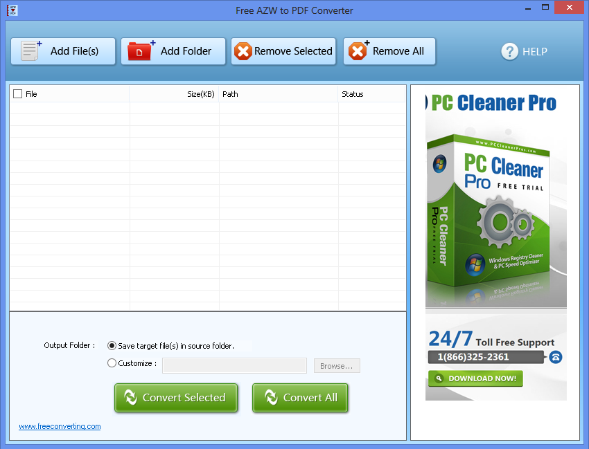 Click to view Free AZW to PDF Converter screenshots