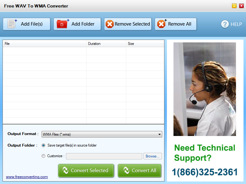 Click to view Free WAV to WMA Converter screenshots